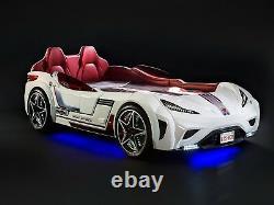 Cadre De Lit Pour Enfants, Gts Race Car Twin, Blanc