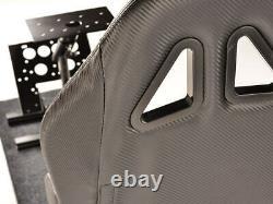 Cadre De Pédales De Volant De Jeu De Voiture + Siège De Seau Carbon Style Ps3 Ps4 Xbox Gta