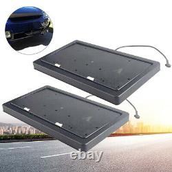 Cadre De Plaque De Licence Rétractable Électrique 2x Mouvements Rapides Avec Télécommande USA Car