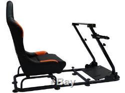 Cadre De Siège Baquet Pour Simulateur De Jeu De Voiture De Course Sim Pc Ps3 Ps4 Xbox Noir / Orange