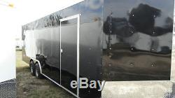 Cadre De Tube De Voiture De Transport Fermé 8,5x20 Nez, Blanc, Course Noire Prête En Option