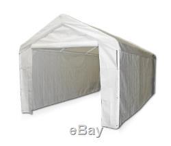 Cadre En Acier Canopy Avec Flanc Abri Portable Carport Garage Ombre 10x20