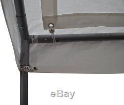 Cadre En Acier Robuste De Véhicule De Garage D'abri D'auvent De Voiture, Blanc, 10 Pi X 20 Pi