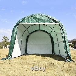 Cadre En Acier Tente De Stockage Shed Abri De Voiture Garage Abri D'auto 10'x10'x8' Extérieur