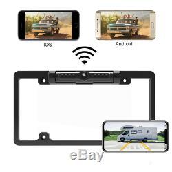 Caméra Numérique Sans Fil Vue Arrière De Voiture De Sauvegarde License Plate Cadre Fit Ios Android
