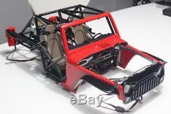 Capo Rc 1/8 Racing Jkmax Métal Rock Crawler Kit Modèle Châssis Peinture Rouge Voiture