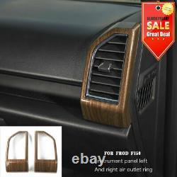 Car La Pleine Intérieur Centrale De Contrôle Couverture Garniture Cadre Ford F150 2015-19 Grain De Bois