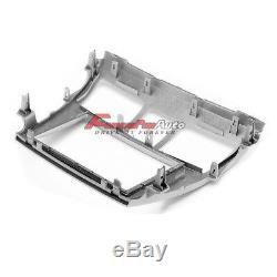 Car Stereo Fascia Panel 2 Din Silver Frame Pour Toyota Vios Yaris Sedan Belta