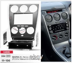 Carav 11-106 Voiture Stéréo Radio Fascia Panneau Cadre Kit Mazda 6 2002-07 Manuel A/c