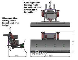 Chasse-neige En Aluminium Rc Pour Traxxas Trx-4/6 Trx-échelle Et Trail Sur Chenilles Châssis