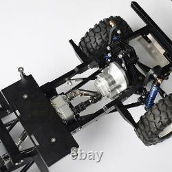 Châssis À Empattement Cnc Metal 275mm Pour 1/10 Rc Car Defender D90 Gelande II