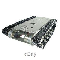 Châssis De Pedrail Intelligent De Robot De Réservoir De Voiture De Camion En Métal Inoxidable De Robot Intelligent