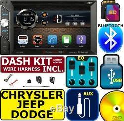 Chrysler Jeep Dodge Bluetooth À Écran Tactile Usb Sd Aux Radio Stéréo
