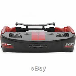 Classic Red Turbo Racecar Double Cadre De Lit, Voiture De Course Racing Meubles Pour Enfants Chambre
