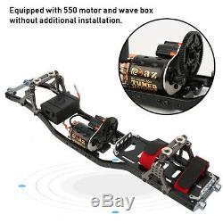 Cnc Et Carbon 110 4 Roues Motrices Rc Car Kit Frame Avec Moteur Pour Axial Scx10 I Rc Crawler Voiture