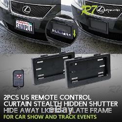 Convient Nissan! 2x Voiture À Rideaux Hide Couverture De La Télécommande À Plaque D'immatriculation Frame