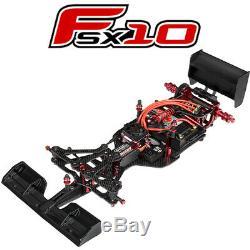 Corally C-00120 Fsx-10 1/10 Kit De Voiture Formula Racing Châssis Kit Uniquement