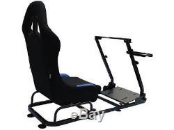 Course De Voiture Jeux De Course Sim Cadre Chaise Bucket Seat Pc Ps4 Xbox Ps3 Noir / Bleu