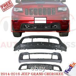 Couverture Avant Pare-chocs + Calandre Basse + Cadre Pour 2014-2016 Jeep Grand Cherokee