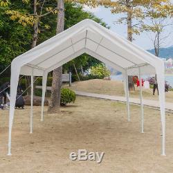 Couverture De Tente De Belvédère Auvent De Port De Voiture De 10 X 20 Pi Avec Garage À Cadre En Acier À 6 Pattes