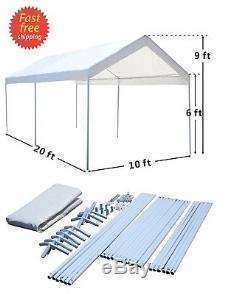 Couverture Portative De Garage D'abri De Carport De Voiture D'auvent De Tente Du Parti 10x20 De Cadre En Acier Us