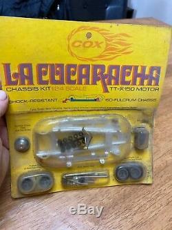Cox La Cucaracha Kit Châssis 1/24 Tt-x 150 Moteur Neuf Dans La Boîte Vintage Slot Car