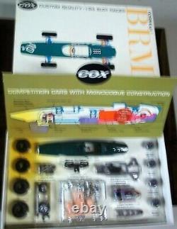 Cox Vintage 1/24 1/25 Nouveau Brm F-1 Slot Car Kit Chassis & Box Revell Amt Kb