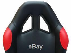 Gaming Car Racing Sim Cadre Chaise Bucket Siège Pour Pc Xbox Ps4 Ps3 Noir / Rouge Cadeau