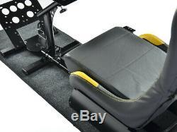 Gaming Car Racing Simulator Cadre Chaise Bucket Cadre Du Siège Noir / Jaune Ps4 Xbox