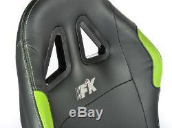 Gaming Car Racing Simulator Cadre Chaise Bucket Cadre Du Siège Noir / Vert Ps4 Xbox