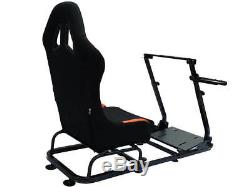 Gaming Car Racing Simulator Cadre Président Bucket Seat Ps4 Xbox Ps3 Noir / Orange