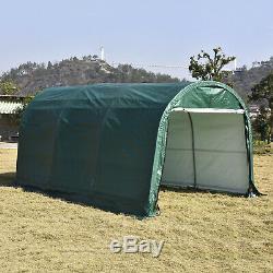 Garage Cadre En Acier Abri 10'x15'x8'ft Shed Tente Abri De Stockage Canopy