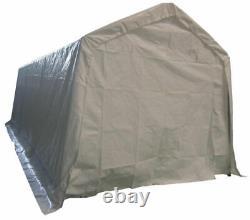 Garage Carport Shelter Car Port Canopy 3m X 6m Galvanised Frame Blanc