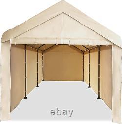 Garage Tent Cover Enclosure Caravan 10x20 Carport Car Shelter Steel Frame Canopy