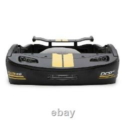 Garçons Twin Bed Race Car Black Turbo Racing Frame Pour Enfants Teens Meubles Chambre