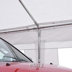 Heavy Duty 10'x20' Outdoor Car Shelter Canopy Carport Boat Cover 8 Steel Frame