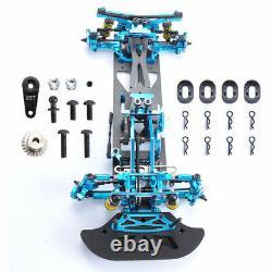 Hsp Hpi Rc 110 4x4 Drift Racing Car Alloy & Carbon Fiber Body G4 Frame Kit Bleu