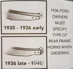 Ingénierie De Châssis, Kit D'extrémité Arrière À Ressort À Lames, 2014cg, Début 1935-36, Voiture Ford