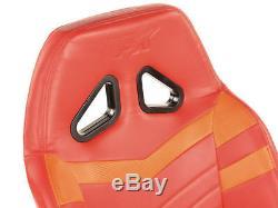 Jeu De Voiture Cadre Chaise Bucket Cadre Du Siège Ps4 Ps3 Pc Xbox Orange / Rouge Faux Cuir