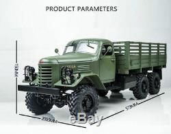 Kingkong Rc Voiture 1/12 Kit De Châssis Métallique De Camion D'escalade Soviétique Ca30 / Zisl-151 6x6