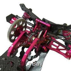 Kit Corps De Cadre De Voiture De Course Drift Sakura D4 Rwd 1/10 Alliage Et Carbone # Kit-d4rwd