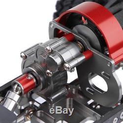 Kit De Cadre De Voiture De La Fibre Rc De Carbone D'alliage D'aluminium Avec Des Pneus De 313mm Pour Axial Scx10
