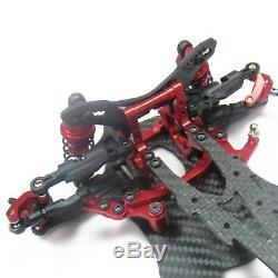 Kit De Corps De Cadre De Châssis De Voiture De Dérive Sakura D4 Rwd De Carbone Rouge 1/10 # Kit-d4rwd