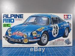 Kit Voiture Vintage Vintage Tamiya 1/10 R / C Pour Renault Alpine A110 M-02 # 58168