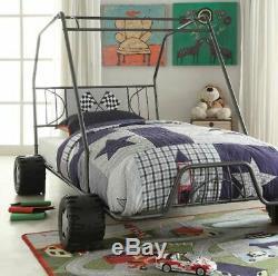Lit Enfant Cadre Go Kart Voiture De Course Tout-petits Chevet Cool Garçon Fille Racing Kid