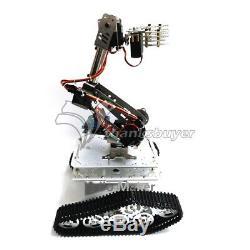 Mécanique 7dof Robot Bras Pince Claw + Montage Voiture Réservoir Châssis Kit De Cadre Pour Le Bricolage
