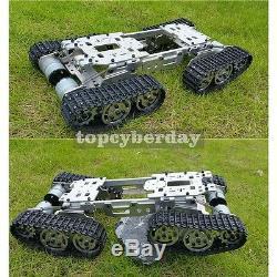 Métal Robot Voiture De Chenilles Pour Vtt Réservoir Châssis Suspension Obstacle Passage Unassembled