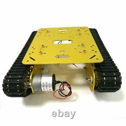 Moteurs Ts100 #sz Bricolage Châssis Métal Smart Robot Car + 12v 300rpm 37 Moteurs Ts100 #sz