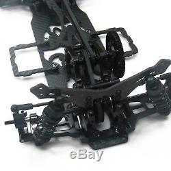 Noir 1/10 Alliage & Carbon Sakura D4 Awd Ep Drift Cadre Voiture Body Kit # Kit-d4awd