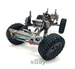 Nouveau 455mm 1/10 Axial Rc Voitures D90 Cnc Rock Chassis Sur Chenilles En Métal Modèle With0 Servo